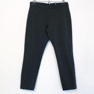 J. Crew Gray Cropped Stretch Zip Legging Pants 10